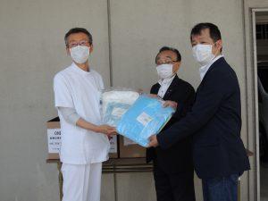 滋賀県ラグビーフットボール協会様,株式会社中山スポーツ様よりマスク,感染防護具他,寄付金