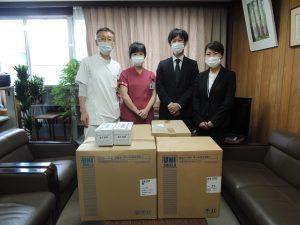 京都橘大学様よりマスクとガウン